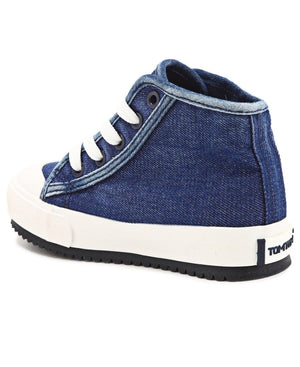 Girls Glow Studded Sneakers - Blue