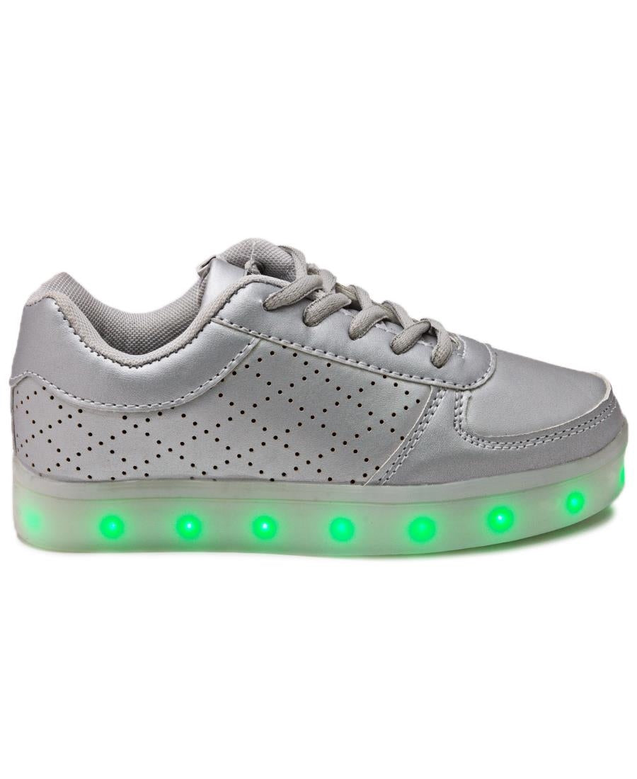 Kids Low LED Sneakers - Silver