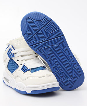 Kids Slash Boot Sneakers - White-Blue