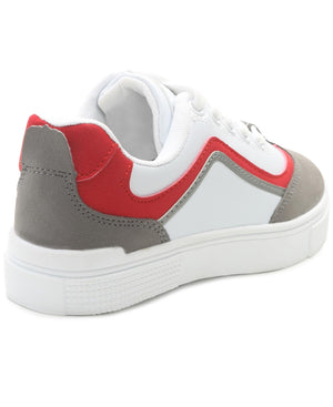 Kids Smooth Sneakers - Red