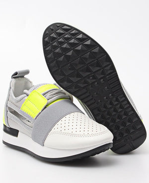 Girls Storm Sneakers - Yellow