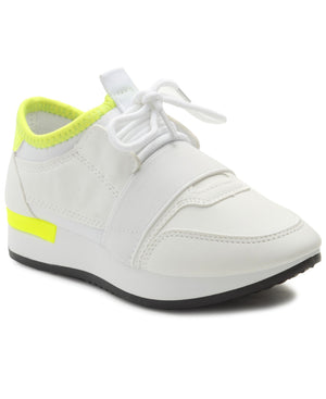 Girls Storm Funky Sneakers - White
