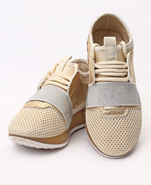 Kids Storm Sneakers - Gold