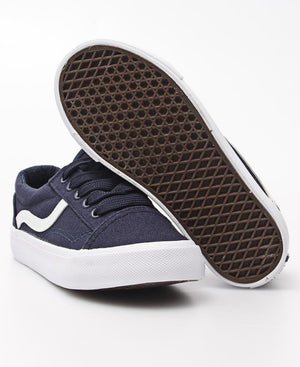 Kids Track Canvas Sneakers - Navy