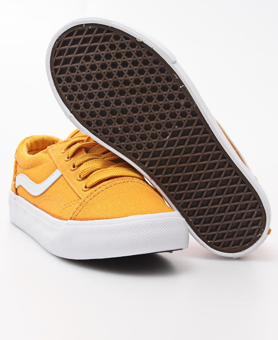 Kids Track Canvas Sneakers - Yellow