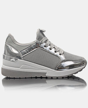 Ladies' Casual Sneakers - Grey