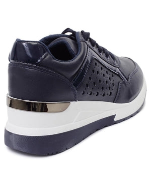 Ladies' Casual Sneakers - Navy