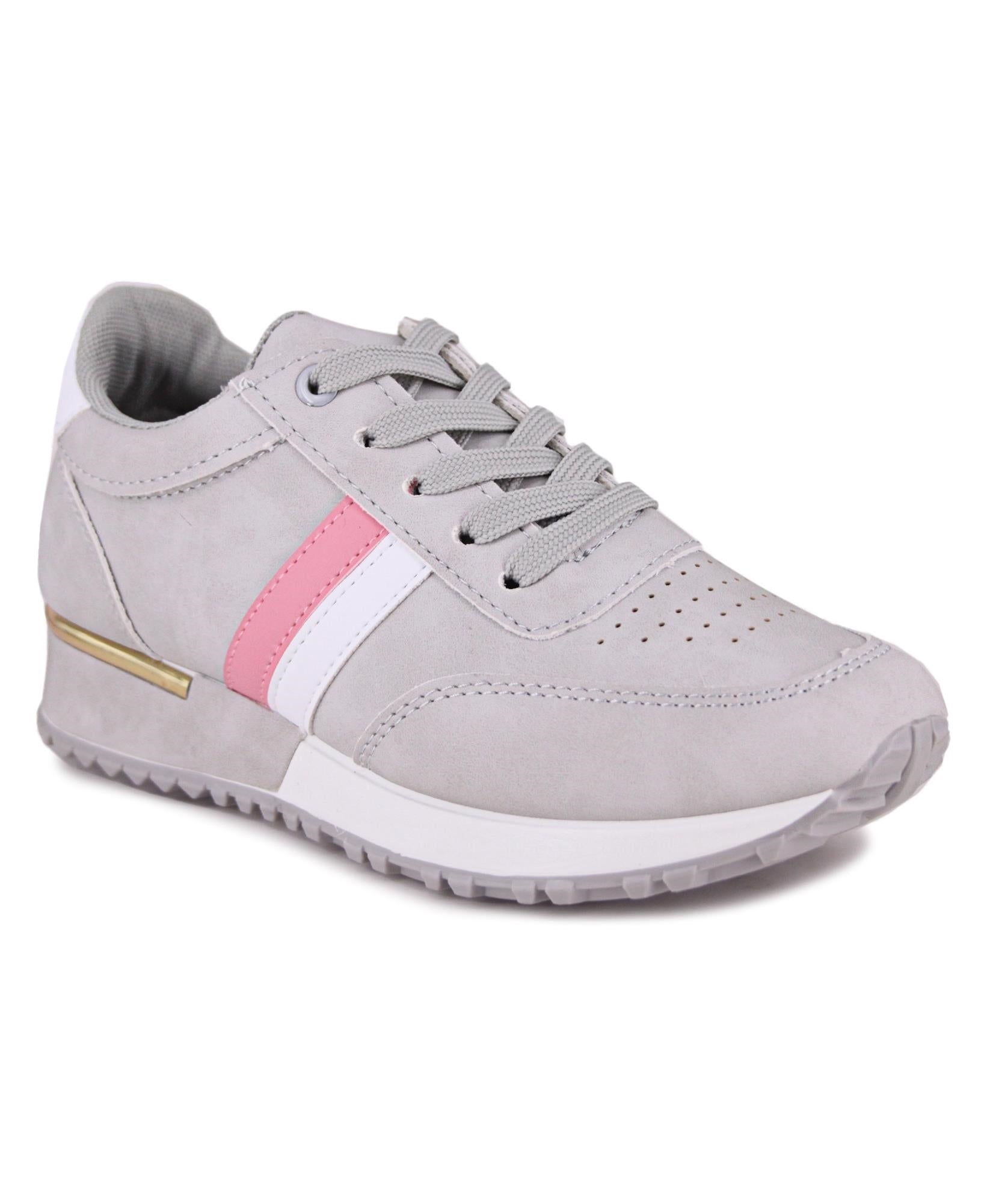 Ladies' Balance Stripe Sneakers - Grey
