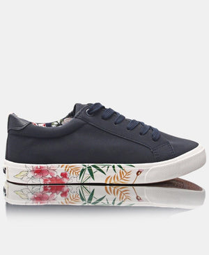 Ladies' Bloom Update Sneakers - Navy