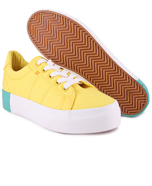 Ladies' Cuba Sneakers - Yellow