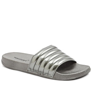 Cleo Slide Metallic - Gunmetal