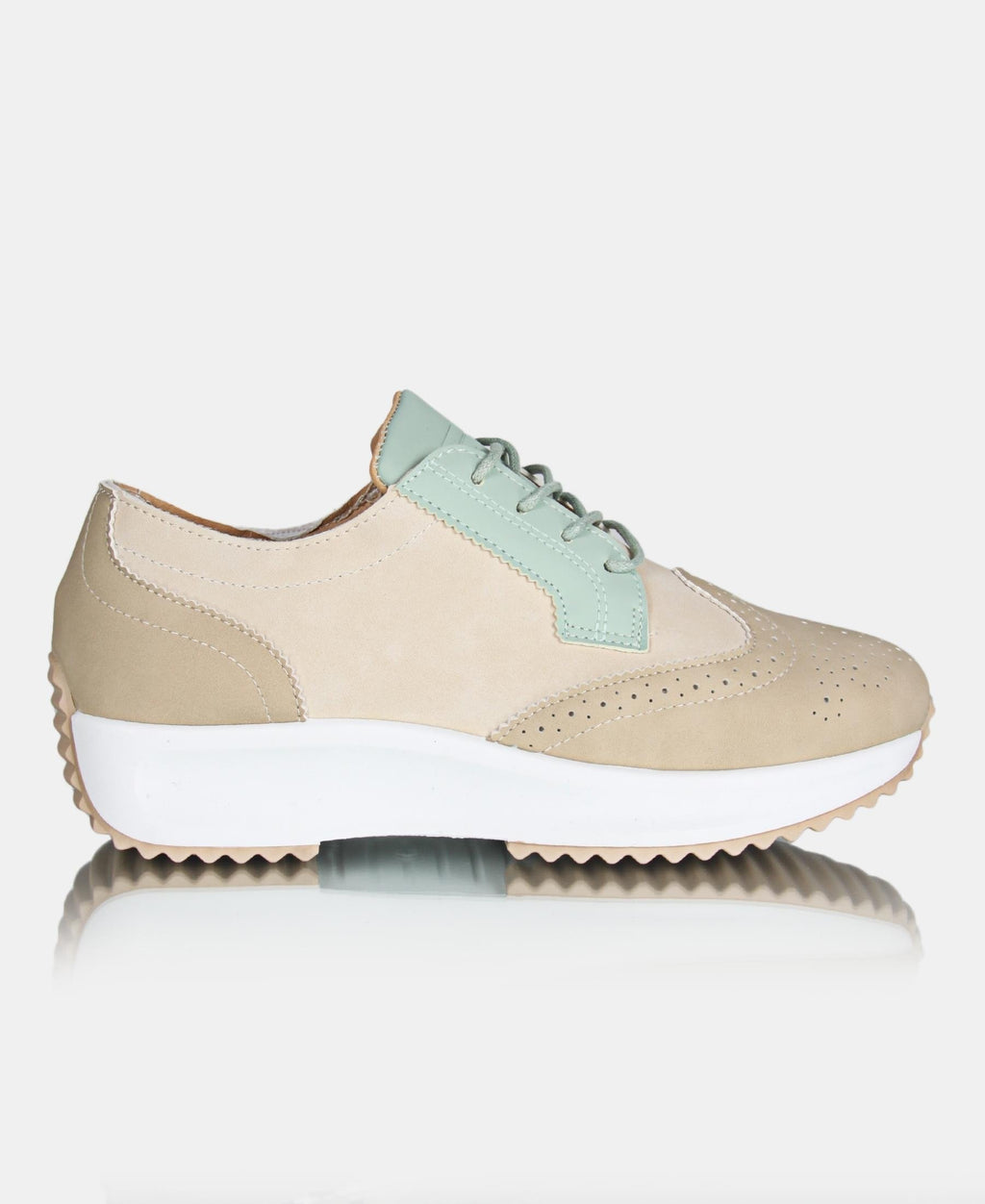 Ladies' Fire Sneakers - Taupe