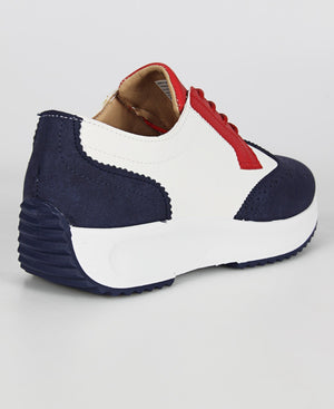 Ladies' Fire Sneakers - Navy-Red
