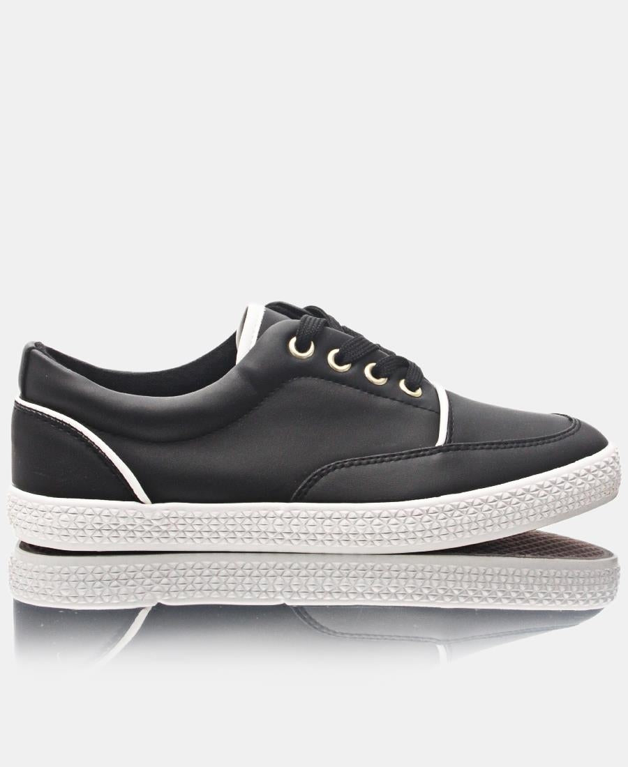 Ladies' Light Fusion Sneakers - Black-White