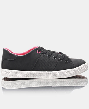 Ladies' Light Lumo Sneakers - Black