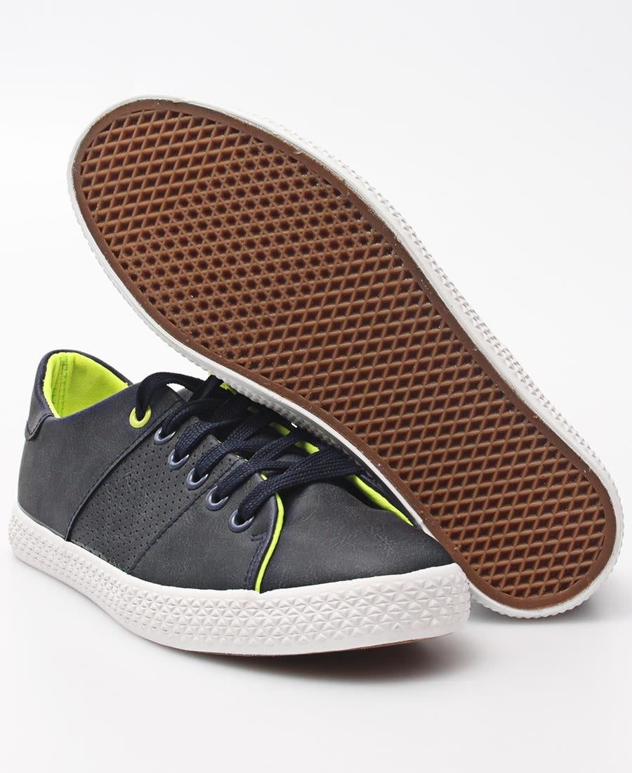 Ladies' Light Lumo Sneakers - Navy