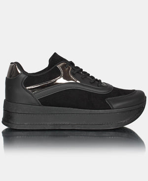 Ladies' London Micro Sneakers - Black
