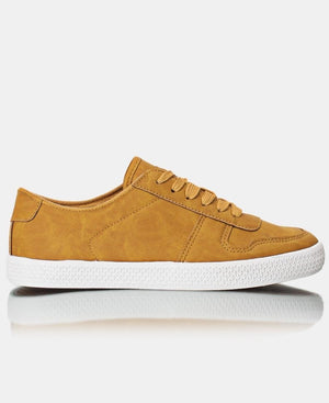 Ladies' Light Classic Sneakers  - Mustard