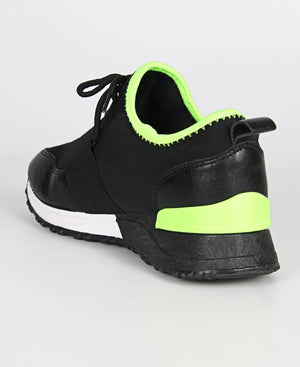 Ladies' Nova Madden Sneakers - Black-Green