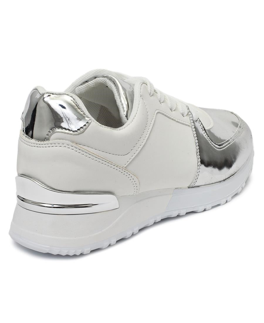 Ladies' Nova Metallic Sneakers - White