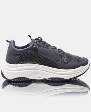 Ladies' Race Snake Sneakers - Navy