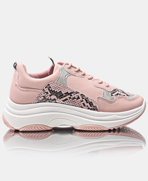 Ladies' Race Snake Sneakers - Mink