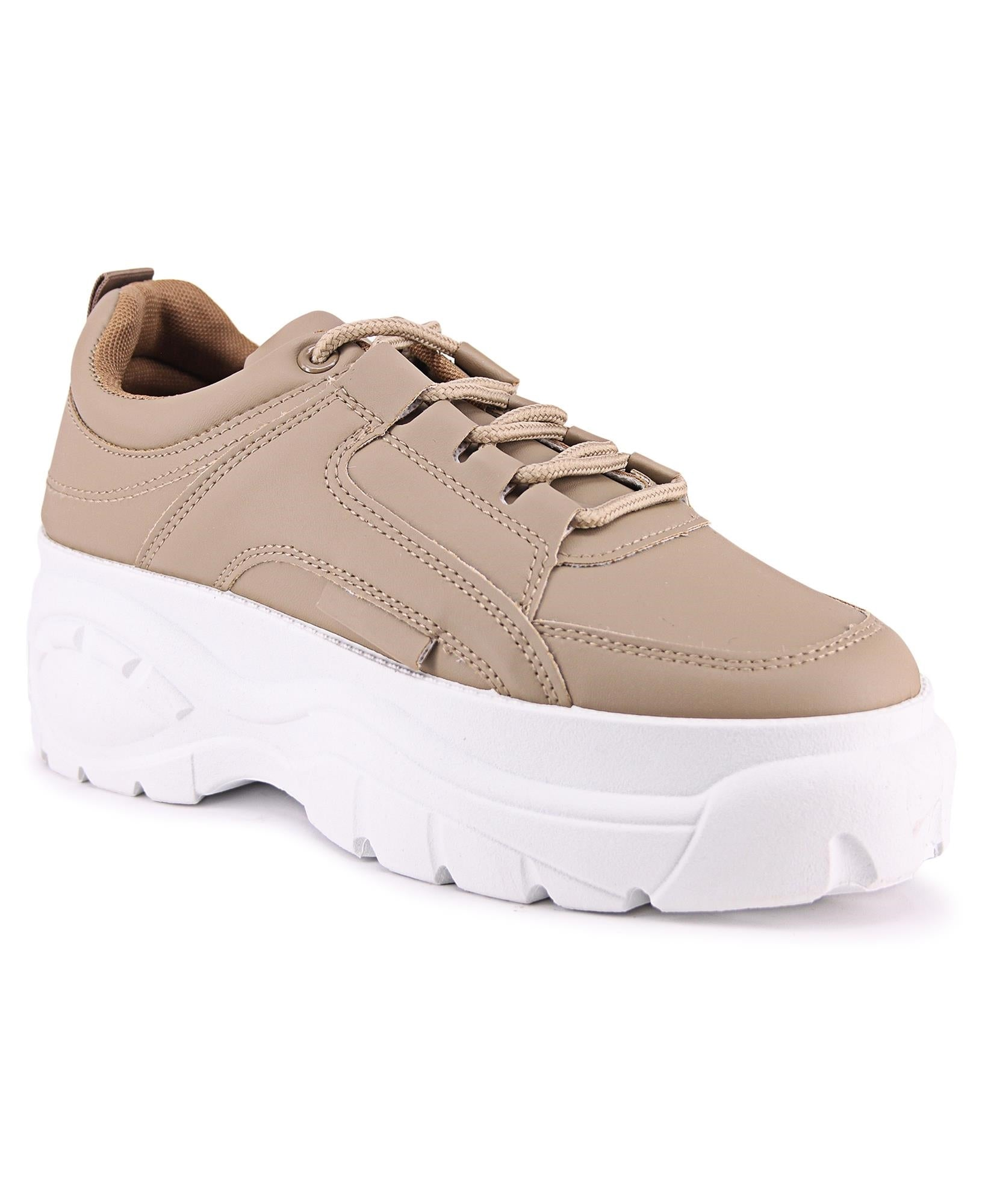Ladies' Raw Sneakers - Taupe