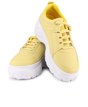 Ladies' Raw Sneakers - Yellow