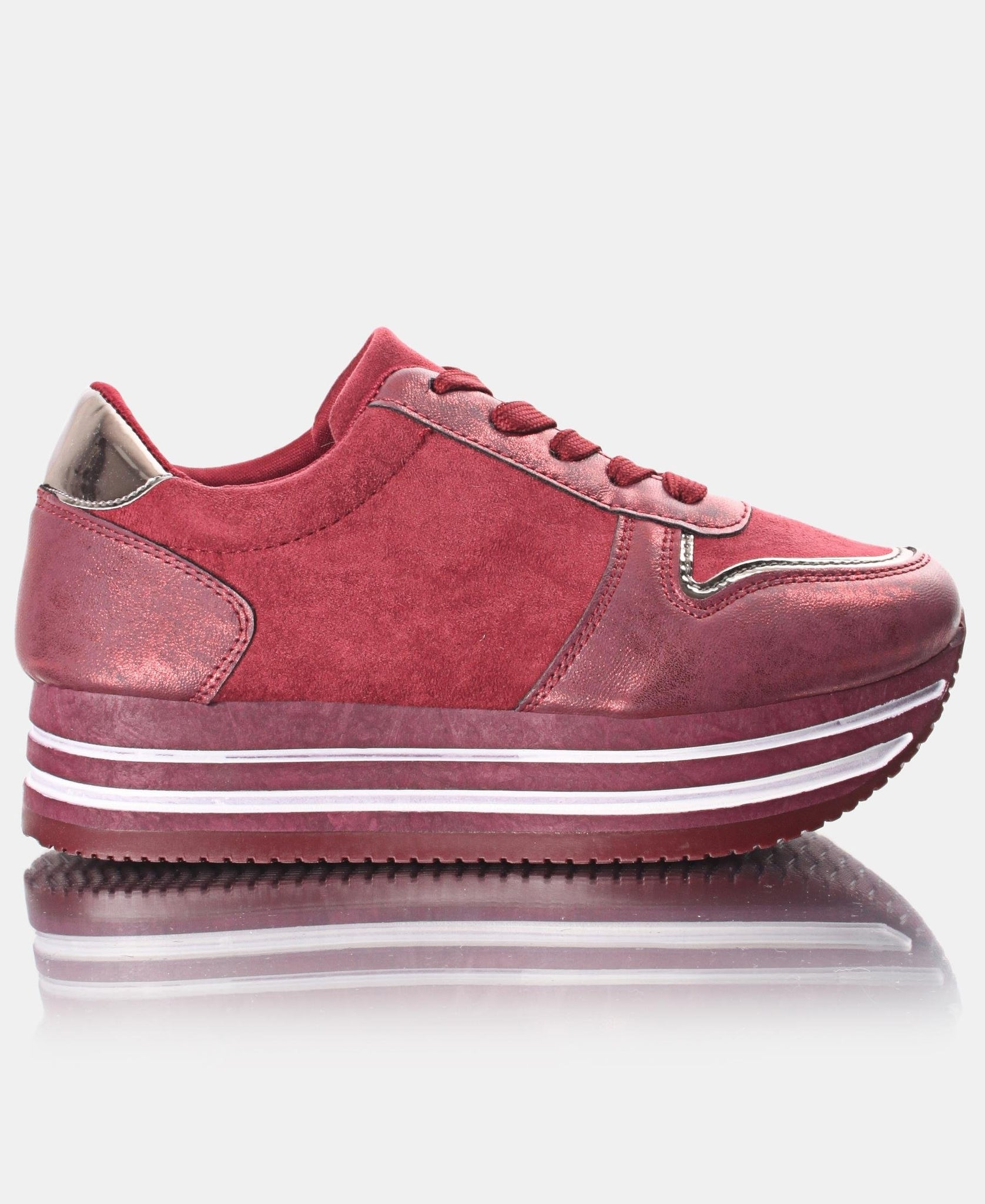 Ladies' Rock Micro Sneakers - Burgundy