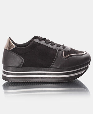 Ladies' Rock Micro Sneakers - Black