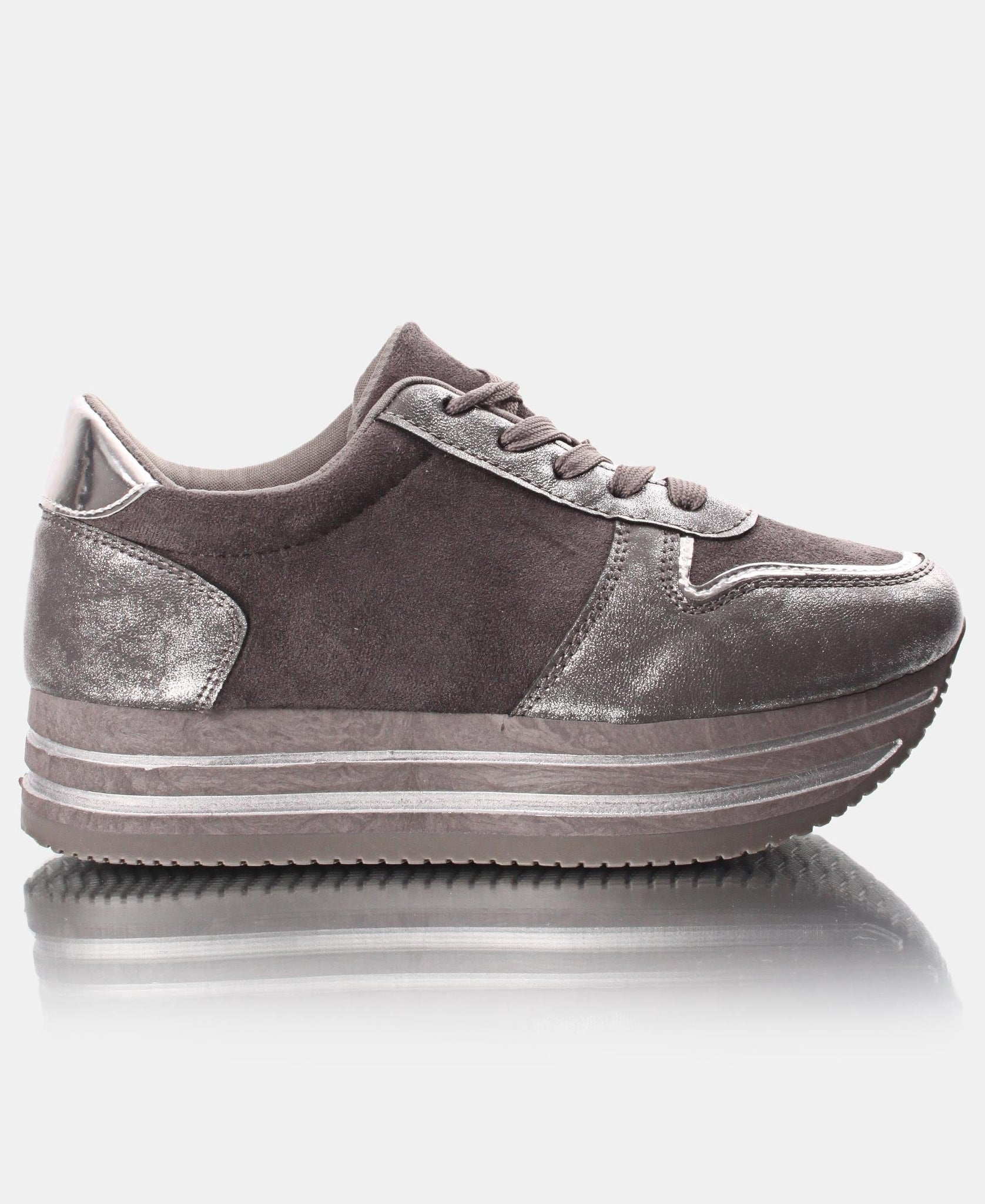 Ladies' Rock Micro Sneakers - Pewter