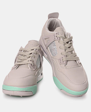 Ladies' Slash Exotic Sneakers - Grey