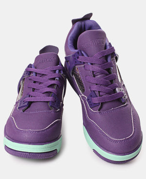 Ladies' Slash Exotic Sneakers - Purple