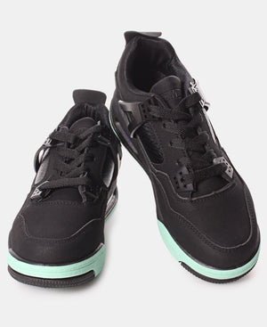 Ladies' Slash Exotic Sneakers - Black