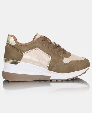 Ladies' Star Shimmer Sneakers - Taupe