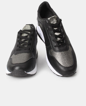 Ladies' Star Shimmer Sneakers - Black