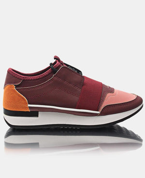 Ladies' Storm Sneakers - Burgundy