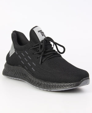 Men's Flye Sneakers - Black-Grey