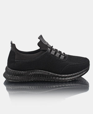 Men's Flye Stitch Sneakers - Black