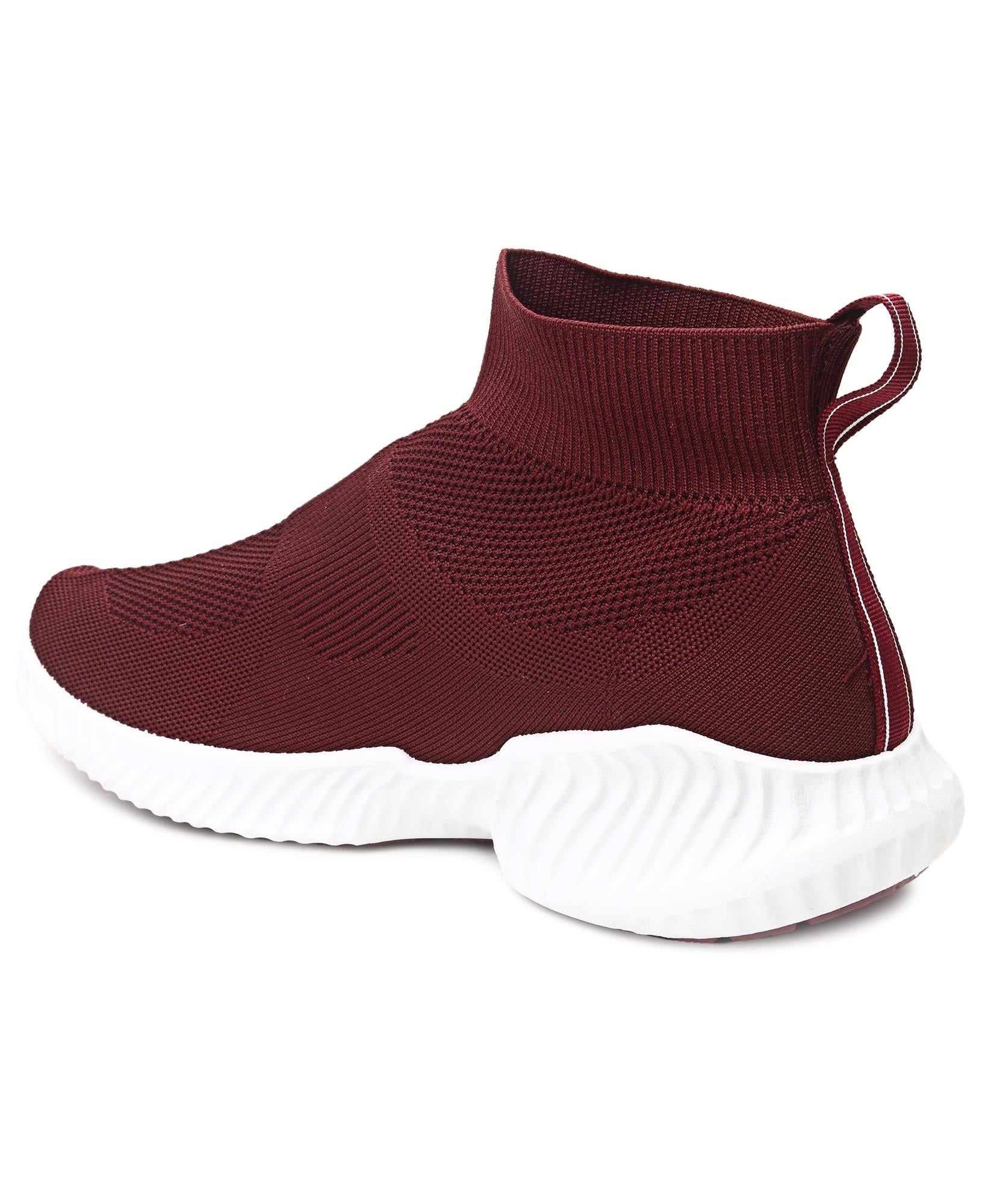 Men's Leap Boot Sneakers - Burgundy