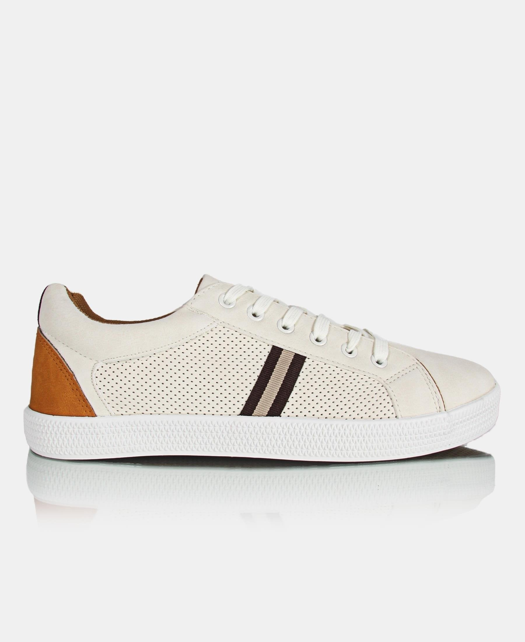 Men's Light Sneakers - Beige - planet54.com