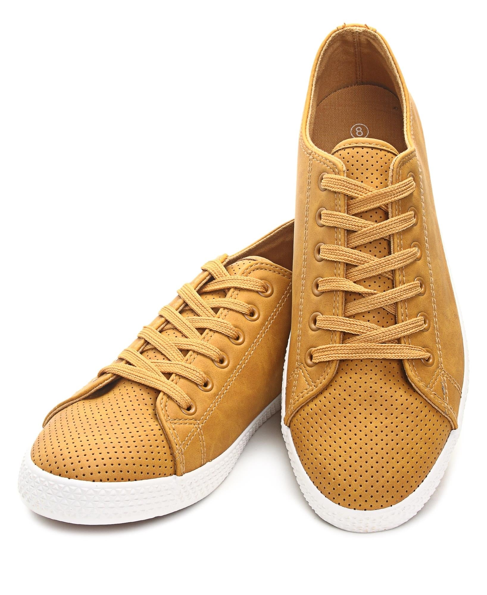 Men's Light Basic Sneakers - Mustard