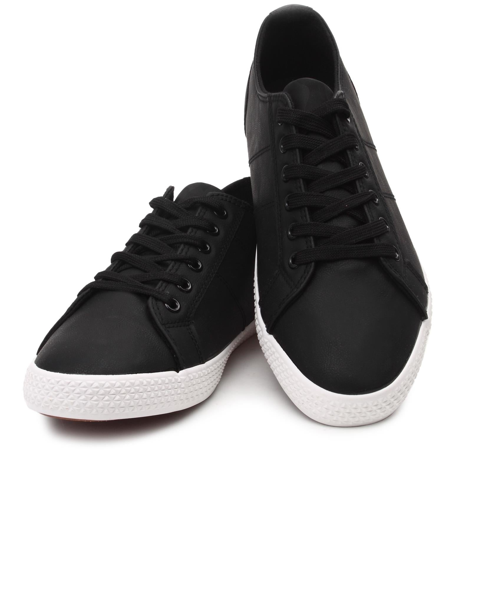 Men's Light Print Sneakers - Black