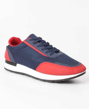 Men's Storm Sneakers - Navy-Red