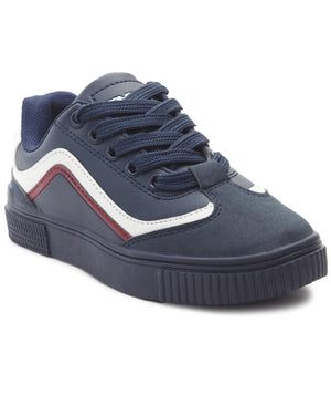 Youth Smooth Sneakers - Navy