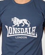 Lonsdale Crew Neck T-Shirt - Navy