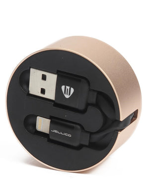 Iphone 5/6/7 USB Fast Sync Cable Storage - Gold