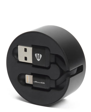 Iphone 5/6/7 USB Fast Sync Cable Storage - Black