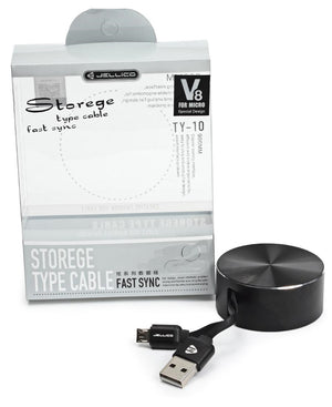 Android USB Fast Sync Cable Storage - Black
