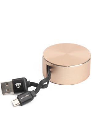 Android USB Fast Sync Cable Storage - Gold